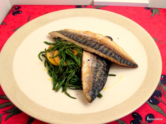 grilled maquerels with samphire